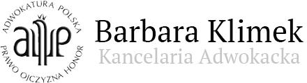 Kancelaria Adwokacka, Radca Prawny, Adwokat Stargard - Barbara Klimek